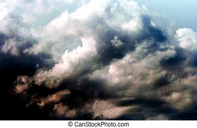 Cumulus clouds before the storm