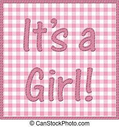 It is a girl baby announcement