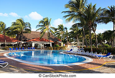 Pool in Sol Cayo Guillermo hotel Cuba