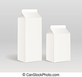 Paper milk product container