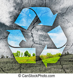 Concept of recycling symbol