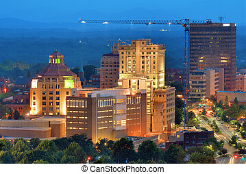 Asheville Skyline - Downtown Asheville, North Carolinas city...
