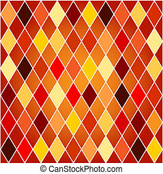 Seamless harlequin pattern-orange and red tones - Seamless...