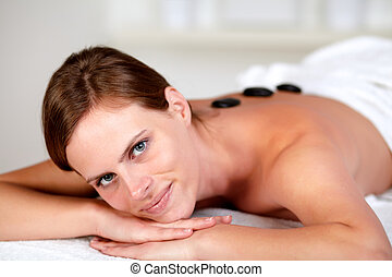 Attractive young woman at a spa