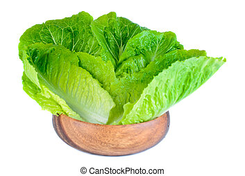 Roman lettuce leaves