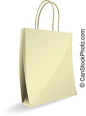 paper bag vector illustration