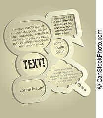 Speech Bubbles - Abstract Design - Speech Bubbles With...