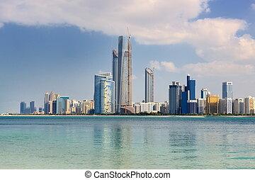 abu dhabi cityscape - modern arabic City Abu Dhabi Landscape...