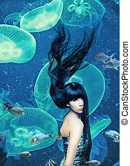 beautiful mermaid  magic underwater ( photo compilation )