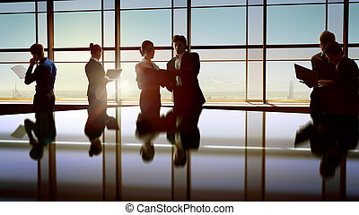 business people - team of successful business people