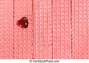 True Love - Strawberry wafer cookies with a red crystal...