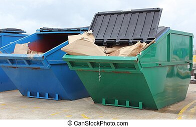 Industrial waste skip - Large industrial waste skips...