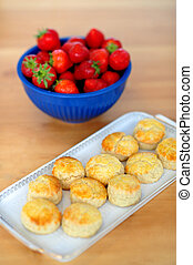 Strawberries and cookies for you