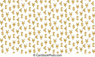 canta, libra, iene, padrão, experiência., dólar, dinheiro, euro, mundo