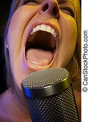 canta, mujer, pasión