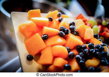Cantaloupe and Blueberry Fruit Platter