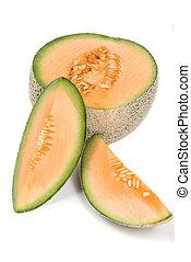 Cantaloupe fruit - The beautiful cantaloupe is often used to...