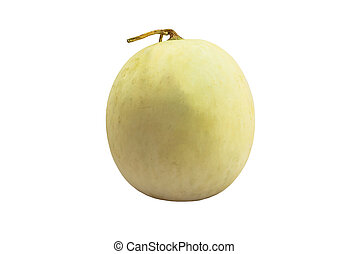 cantaloupe melon isolate white background with clipping path