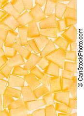 Cantaloupe melon pieces background