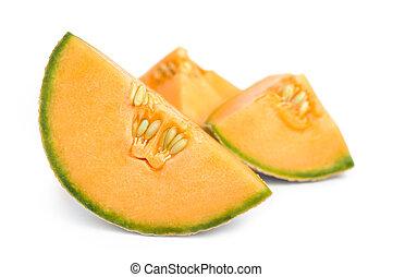 Cantaloupe Melon pieces - Cantaloupe melon pieces close up...