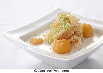Cantaloupe tapioca