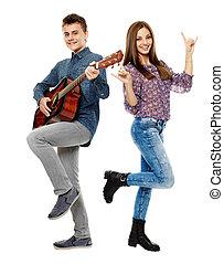 cantando, adolescentes