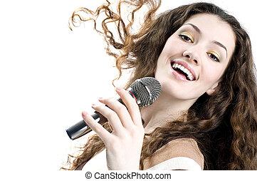 cantando, menina