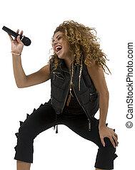 cantante, atractivo, joven