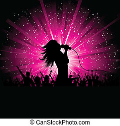 cantante de sexo femenino