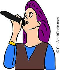 cantante, femmina