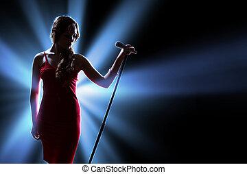 cantante, hembra, etapa