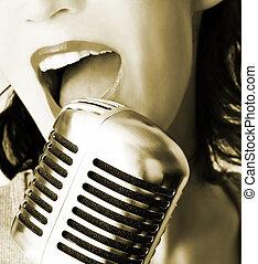cantante, retro