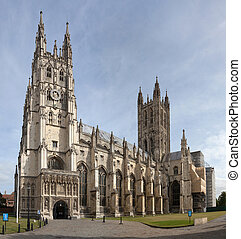 Cathedral and Metropolitan Church of Christ at Canterbury - one of the oldest Christian structures in England, founded in 597 by Augustine of Canterbury, seat of leader of the Church of England.