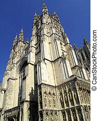Canterbury Cathedral in Canterbury Kent, England, UK, was...