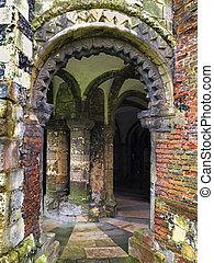 canterbury, voûte, sous-sol, cathédrale, normand