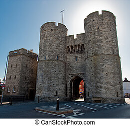 Old Westgate entrance to the city of Canterbury