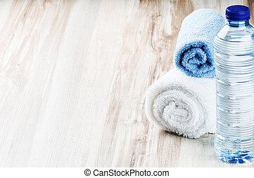 cantimplora, toallas