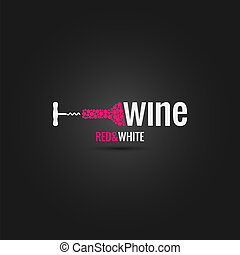 cantina, disegno, bottiglia, fondo, vino