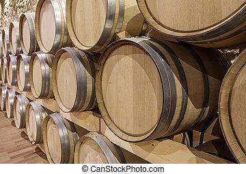 cantina, vista, prospettiva, vino