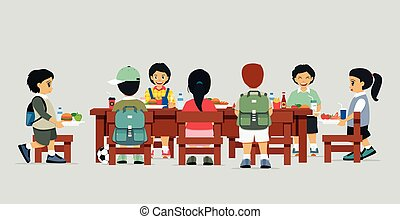 cantine, table
