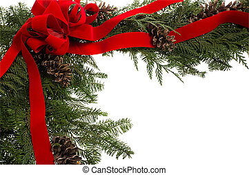 canto, borda, cones, natal, arco