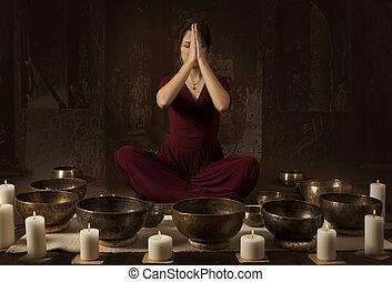 canto, ciotole, tibetano