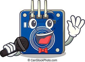 canto, clings, pared, mascota, sensor, tacto