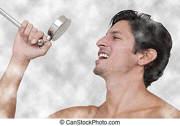 canto, en, el, ducha