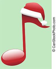 canto, nota musicale, per, vacanza, natale, musica