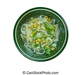 Cantonese corn soup - Chinese-style corn soup , close up