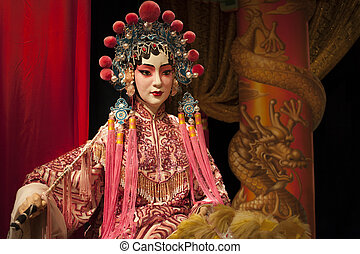 Cantonese opera dummy - Cantonese opera female costume dummy