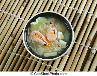 Cantonese seafood soup - seafood soup within Cantonese cuisine. found in Hong Kong,