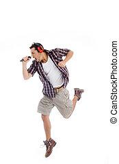 cantor, loudly, cantando, microfone