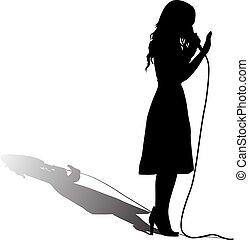 cantor, menina, fase